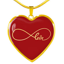 Load image into Gallery viewer, Infinity Love Heart Shaped Pendant Necklace