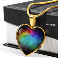 Load image into Gallery viewer, Dream Clouds Colorful Rainbow Heart Shaped Pendant Necklace