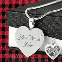 Load image into Gallery viewer, Love Baking Engraved Heart Pendant Necklace With Gift Box