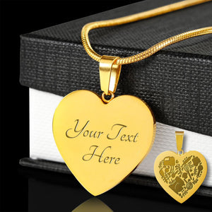 Baking Love 18K Gold Plated Pendant Necklace With Chain and Gift Box Birthday Valentine's Day