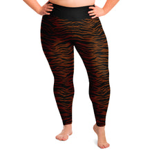 Load image into Gallery viewer, Dark Tiger Print Leggings Plus Size 2X - 6X Squat Proof