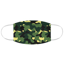Load image into Gallery viewer, Green Camo Printed Cloth Fabric Face Mask Colorful Green, Yellow and Black Camouflage