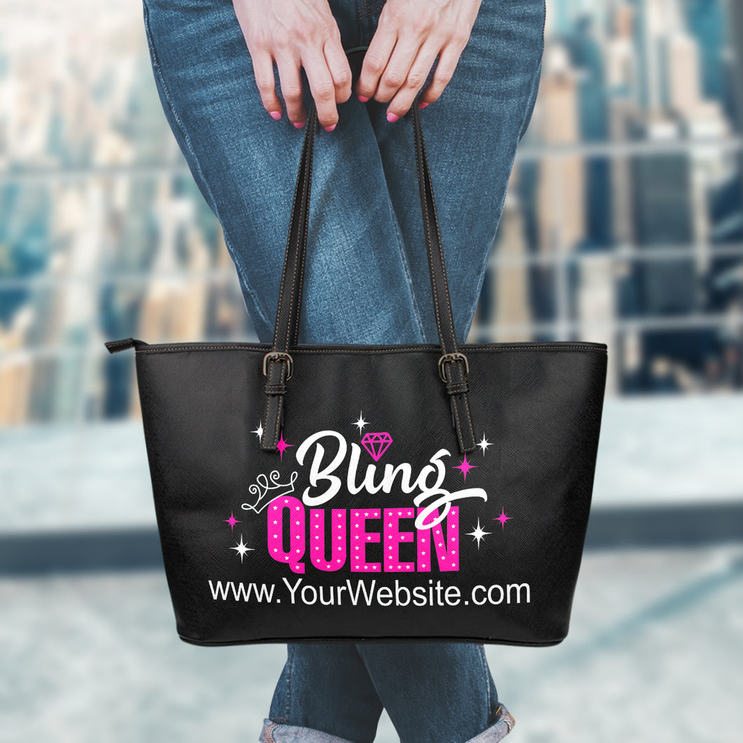 Bling Queen Tote Bag With Customized Website