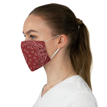 Load image into Gallery viewer, Red and White Bandana Pattern Print Cloth Fabric Face Mask