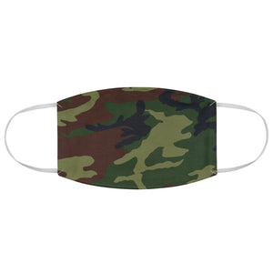Green, Brown and Black Camo Printed Cloth Fabric Face Mask Colorful Camouflage Army Military