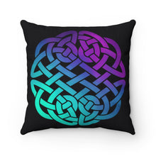 Load image into Gallery viewer, Colorful Ombre Celtic Knot Spun Polyester Square Pillow