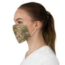 Load image into Gallery viewer, Digital Camo Printed Cloth Fabric Face Mask Brown, Green and Tan Camouflage Army Military