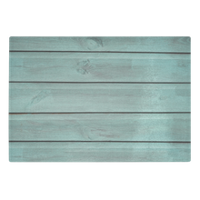 Load image into Gallery viewer, Rustic Turquoise Wood Design Tempered Glass Cutting Board