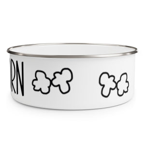 Enamel Popcorn Bowl With Lid