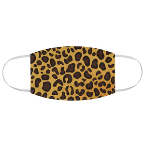 Cheetah Print Fabric Fashion Face Mask Animal Print Safari Jungle Pattern Yellow, Brown and Black