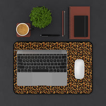 Load image into Gallery viewer, Leopard Animal Print Desk Mat Large Enough For a Laptop or Keyboard and Mouse