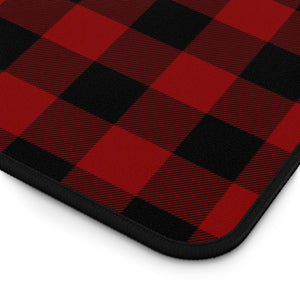 Red and Black Buffalo Plaid Desk Mat