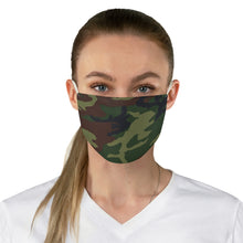 Load image into Gallery viewer, Green, Brown and Black Camo Printed Cloth Fabric Face Mask Colorful Camouflage Army Military