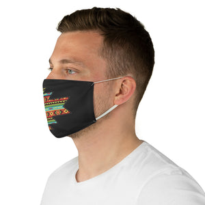 Southwestern Aztec Element With Colorful Stripes Pattern Printed Fabric Face Mask Southwestern Ethnic