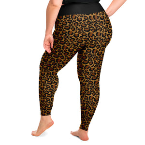 Leopard Print Leggings Plus Size 2X - 6X Squat Proof