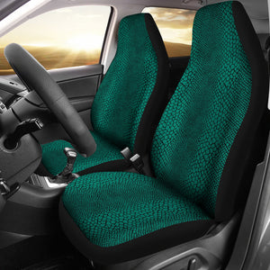 Teal Lizard Reptile Snake Skin Scales Car Seat Covers