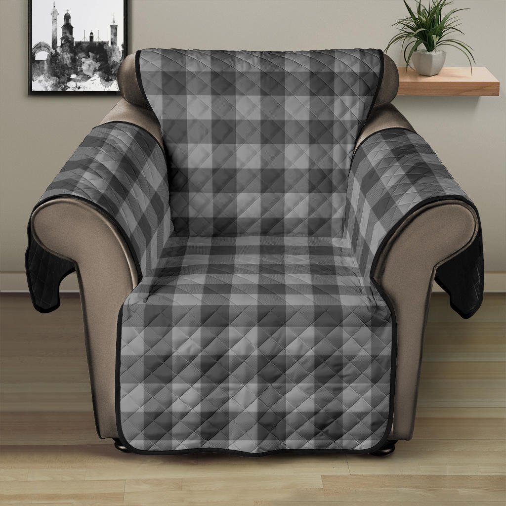 Gray Buffalo Plaid Recliner Cover 28