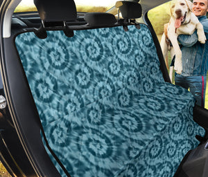 Teal Tie Dye Pet Back Seat Cover