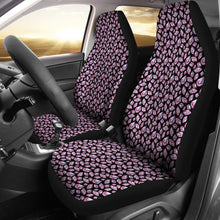 Load image into Gallery viewer, Black With Pink Crystals Car Seat Covers