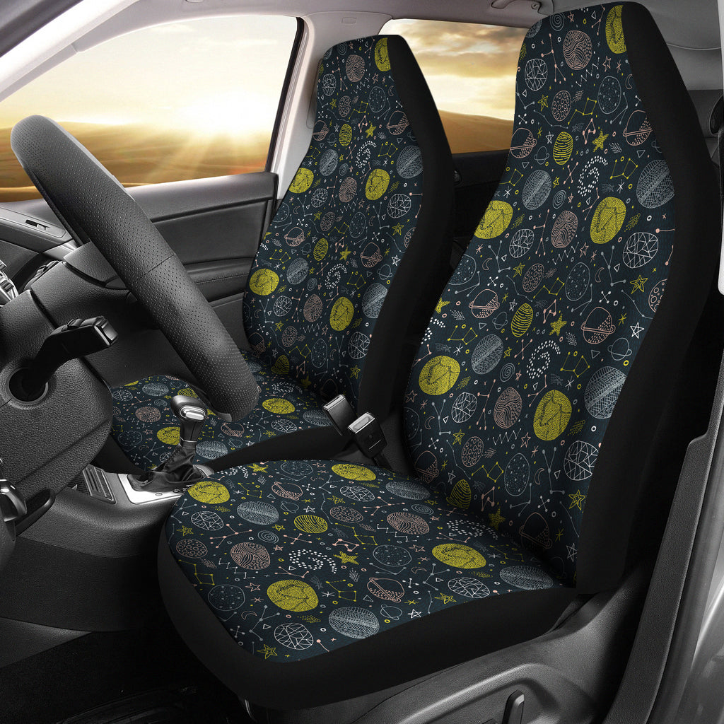 Outer Space Pattern Car Seat Covers