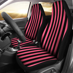 Pink and Black Striped Car Seat Covers Seat Protectors