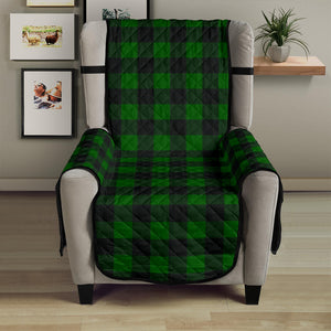 "Green Buffalo Plaid 23"" Chair Sofa Protector Couch Cover Farmhouse Decor"