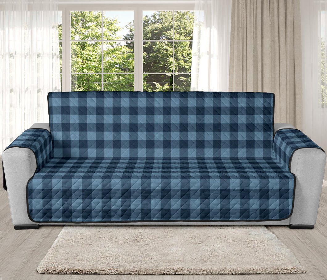 Blue Buffalo Oversized Plaid Couch Cover Sofa Protector 78