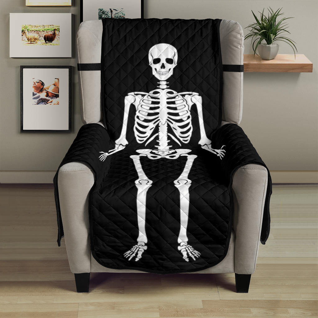 Skeleton Armchair Slipcover Protective Cover Fits Up To 23