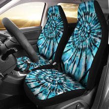 Load image into Gallery viewer, Tie Dye Seat Covers Teal, Black and Blue