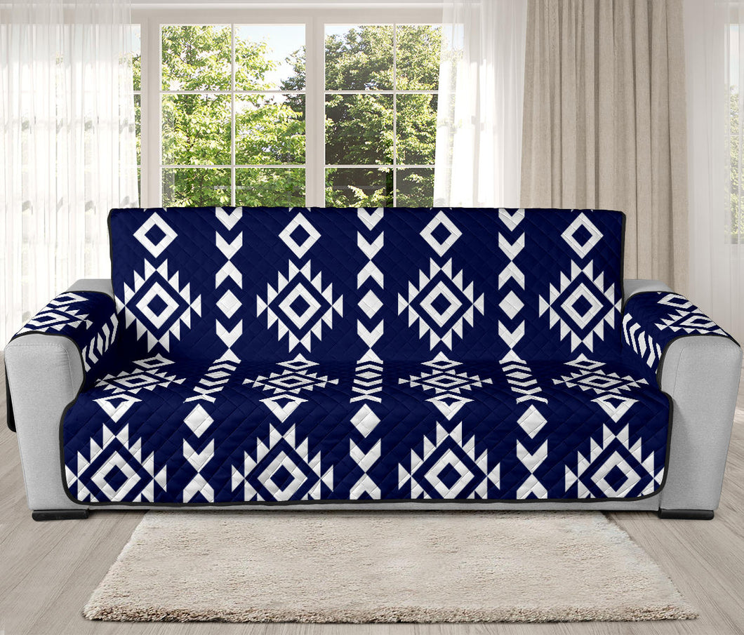 Navy Blue and White Ethnic Tribal Pattern 70