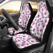 Load image into Gallery viewer, White With Pink and Purple Orchid Pattern Car Seat Covers