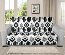 Load image into Gallery viewer, Black and White Boho Cactus Tribal Pattern Futon Slipcover Protector For Up To 70
