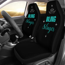 Load image into Gallery viewer, Bling Slinger Car Seat Covers Teal