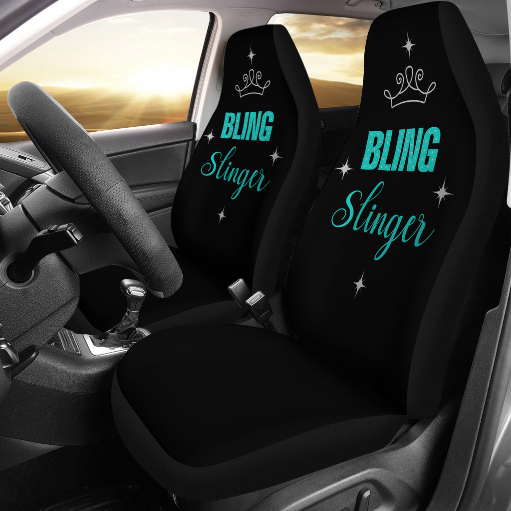 Bling Slinger Car Seat Covers Teal