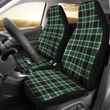 Load image into Gallery viewer, Dark Green and Black Plaid Check Car Seat Covers