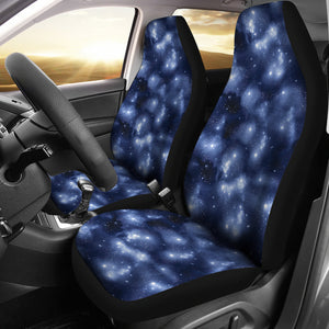 Blue Starry Sky Nebula Galaxy Stars Galactic Car Seat Covers