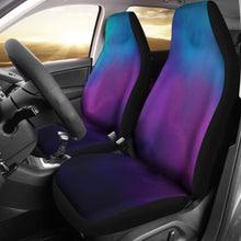 Load image into Gallery viewer, Watercolor Teal, Purple and Blue Ombre Car Seat Covers