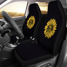Load image into Gallery viewer, Faith Sunflower on Black Car Seat Covers Christian