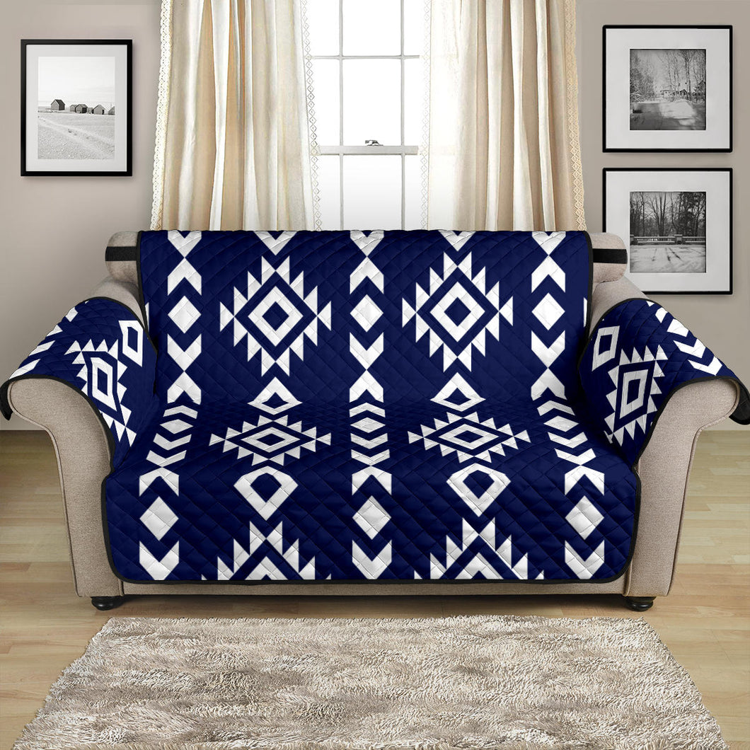 Navy Blue and White Ethnic Tribal 54