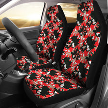 Load image into Gallery viewer, Black Red and Gray Skull Camouflage Camo Car Seat Covers