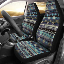 Load image into Gallery viewer, Blue Boho Pattern Abstract Car Seat Covers