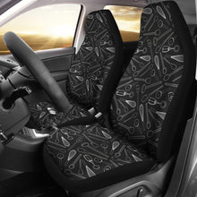 Load image into Gallery viewer, Kitchen Tools Cooking Car Seat Covers Chalky Black and White
