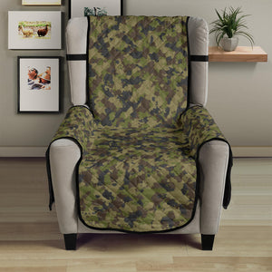 "Camo Chair Cover Protector Green, Gray and Brown Camouflage 23"" Seat Width"