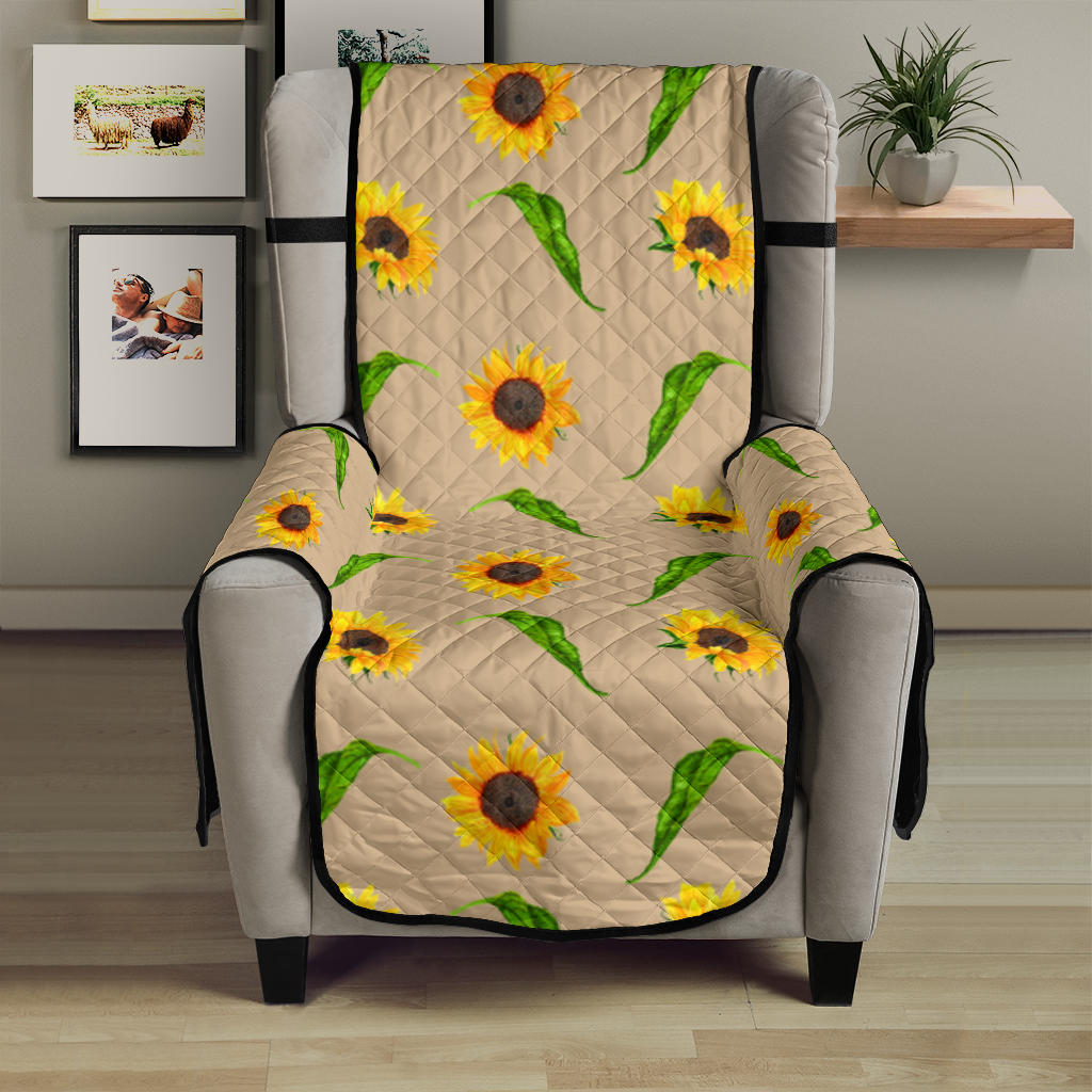 Tan With Rustic Sunflower Pattern 23