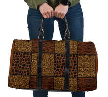 Load image into Gallery viewer, Animal Print Patchwork Pattern Travel Bag
