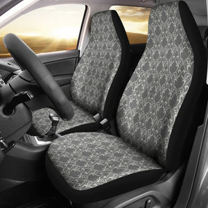 Gray Damask Car Seat Covers Seat Protectors