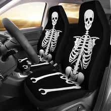 Load image into Gallery viewer, Skeleton Car Seat Covers Set of 2 Black and White
