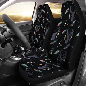 Boho Deer Feathers and Arrow Seat Covers
