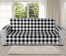 Load image into Gallery viewer, Buffalo Check Oversized Sofa Couch Slipcover in Black White and Gray