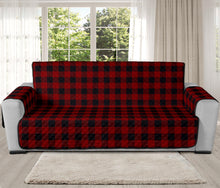 "Load image into Gallery viewer, Red and Black Buffalo Plaid 78"" Oversized Sofa Protector Couch Cover Farmhouse Country Pattern Slip Cover"